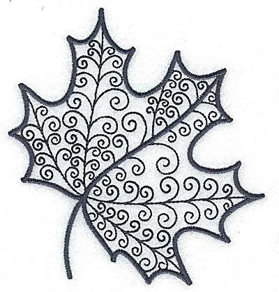 Embroidery Design: Leaf 6 medium 4.54w X 4.94h