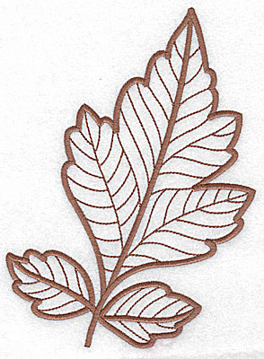 Embroidery Design: Leaf 7 large 5.21w X 7.07h