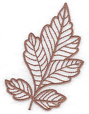 Embroidery Design: Leaf 7 small 2.61w X 3.54h
