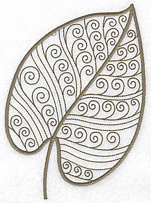 Embroidery Design: Leaf 8 large 5.05w X 7.06h