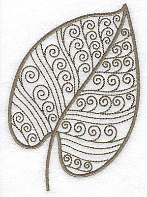 Embroidery Design: Leaf 8 medium 3.56w X 4.98h