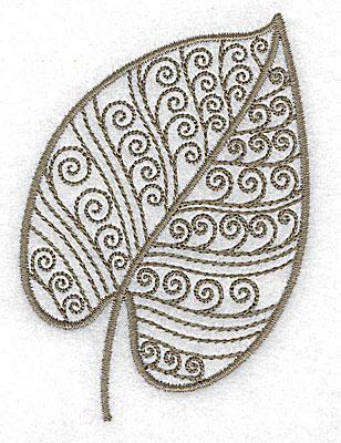 Embroidery Design: Leaf 8 small 2.53w X 3.53h