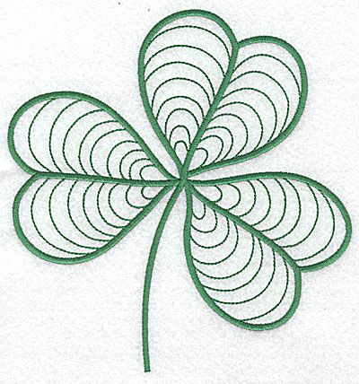 Embroidery Design: Shamrock large 6.73w X 7.07h