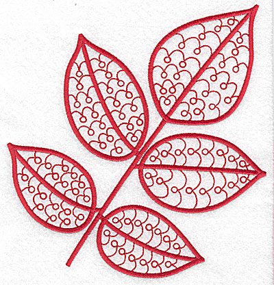 Embroidery Design: Leaf 10 large 6.69w X 7.07h