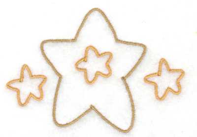 Embroidery Design: Stars 3.16w X 2.21h