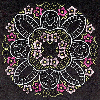 Embroidery Design: Quilt Design 6 large 6.97w X 6.97h