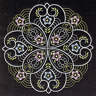 Embroidery Design: Quilt Design 7 large 6.97w X 6.97h