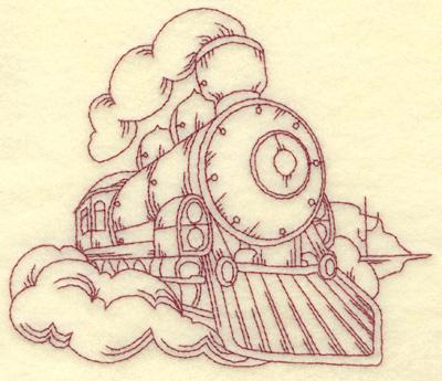 Embroidery Design: Locomotive medium 5.61w X 4.81h