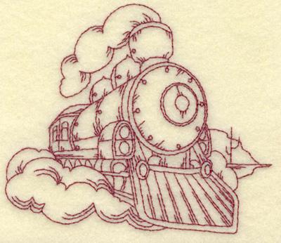 Embroidery Design: Locomotive small 4.20w X 3.61h
