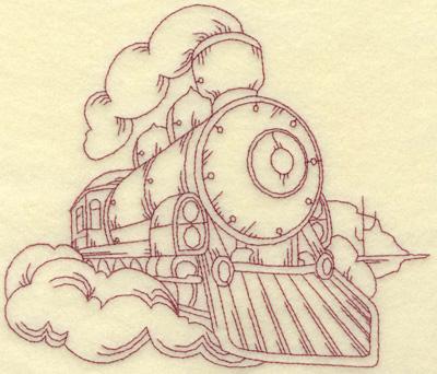 Embroidery Design: Locomotive large 7.02w X 6.01h