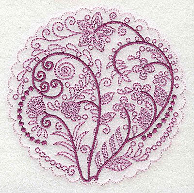 Embroidery Design: Whimsical Flowers A small 3.86w X 3.86h