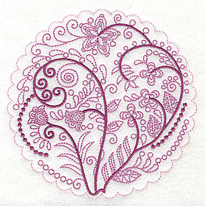 Embroidery Design: Whimsical Flowers A large 4.98w X 4.97h