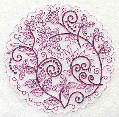 Embroidery Design: Whimsical Flowers B large 4.98w X 4.97h