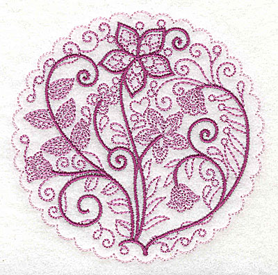 Embroidery Design: Whimsical Flowers C small 3.86w X 3.86h