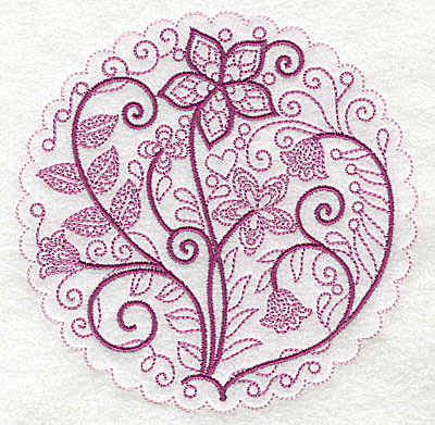 Embroidery Design: Whimsical Flowers C large 4.98w X 4.97h