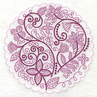 Embroidery Design: Whimsical Flowers D large 4.98w X 4.97h