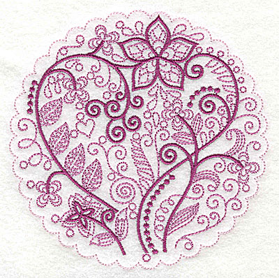 Embroidery Design: Whimsical Flowers E large 4.98w X 4.97h