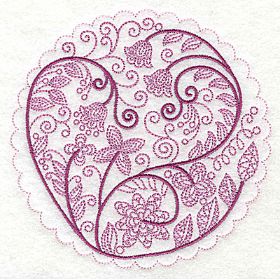 Embroidery Design: Whimsical Flowers F large 4.98w X 4.97h