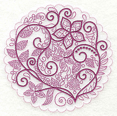 Embroidery Design: Whimsical Flowers G large 4.98w X 4.97h