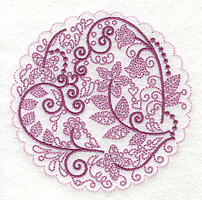 Embroidery Design: Whimsical Flowers H small 3.86w X 3.86h