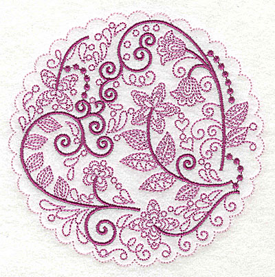 Embroidery Design: Whimsical Flowers H large 4.98w X 4.97h