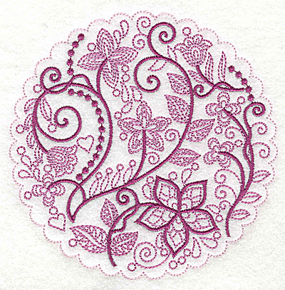 Embroidery Design: Whimsical Flowers I large 4.98w X 4.97h