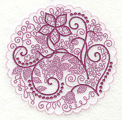 Embroidery Design: Whimsical Flowers J small 3.86w X 3.86h