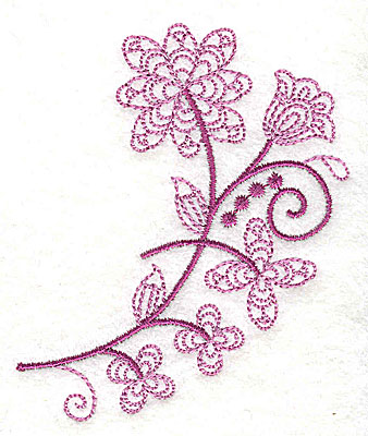 Embroidery Design: Whimsical Flower 1 2.97w X 3.47h