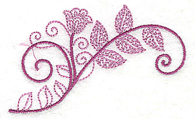 Embroidery Design: Whimsical Flower 2 3.52w X 2.15h