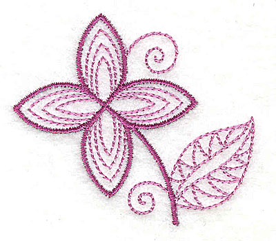 Embroidery Design: Whimsical Flower 3 2.51w X 2.30h