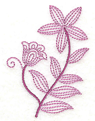 Embroidery Design: Whimsical Flower 4 2.25w X 3.03h