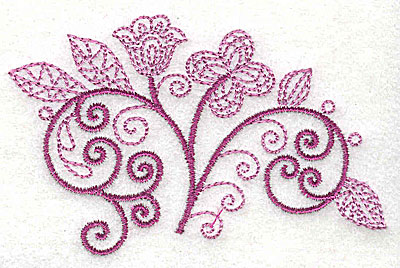 Embroidery Design: Whimsical Flower 5 3.54w X 2.20h