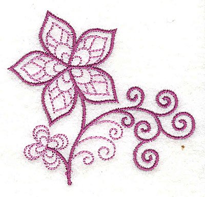Embroidery Design: Whimsical Flower 6 3.03w X 2.87h