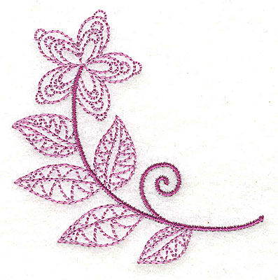 Embroidery Design: Whimsical Flower 8 2.97w X 3.04h