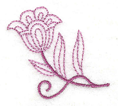 Embroidery Design: Whimsical Flower 9 2.02w X 1.85h