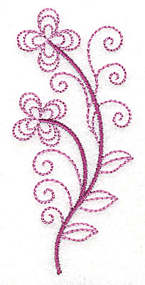 Embroidery Design: Whimsical Flower 10 1.61w X 3.52h