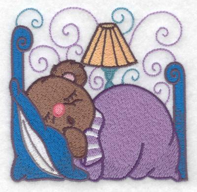 Embroidery Design: Teddy sleeping small 3.79w X 3.74h