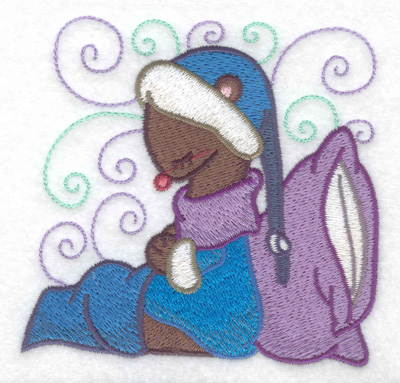 Embroidery Design: Weasel sleeping small 3.87w X 3.75h