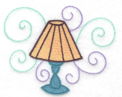 Embroidery Design: Lamp with swirls 3.53w X 2.87h