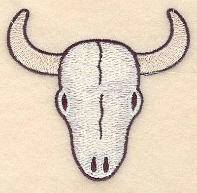 Embroidery Design: Longhorn skull  3.85w X 3.61h