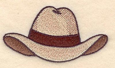 Embroidery Design: Cowboy hat 3.49w X 1.95h