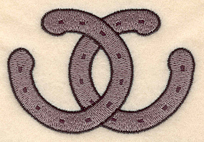 Embroidery Design: Horseshoes 3.45w X 2.30h