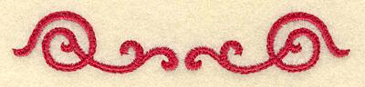 Embroidery Design: Swirls 3.89w X 0.70h