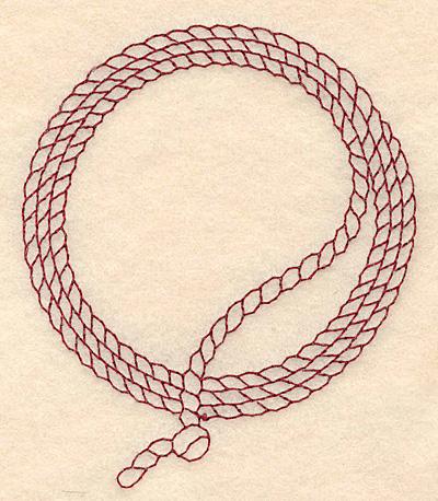 Embroidery Design: Redwork lasso 3.29w X 3.88h