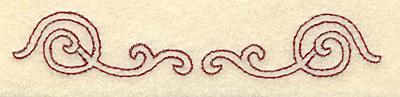 Embroidery Design: Redwork swirls 3.87w X 0.69h
