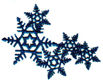 """Embroidery Design: Five Snowflakes2.9"""" x 2.2"""""""