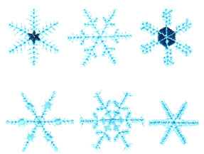 """Embroidery Design: Six Snowflakes3.80"""" x 2.84"""""""