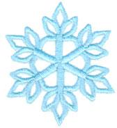 "Embroidery Design: Single Snowflake2.55"" x 2.28"""