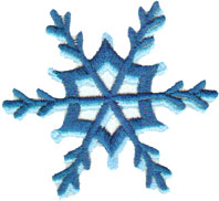 "Embroidery Design: Single Snowflake 22.74"" x 2.52"""