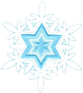 "Embroidery Design: Decorative Snowflake4.33"" x 5.00"""